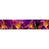 """Кухонный фартук """"Огненная лилия"""" из АБС-пластика 3000*600*1,5мм"""
