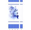 Панели пвх с 3d рисунком Panda Синий цветок