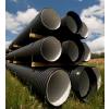 Труба гофрированная 230/200мм для наружной канализации SN6 с раструбом (6 метров) для дачи!