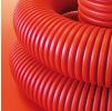 Труба для кабеля гофрированная ГИБКАЯ d75мм Kopoflex c муфтой и зондом для протяжки кабеля