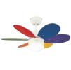 Люстра - вентилятор (потолочный вентилятор со светильником) для детских комнат Turbo II Multicolor
