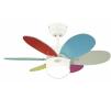 Люстра - вентилятор (потолочный вентилятор со светильником) для детских комнат Turbo II Multicolor Pastel