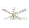 Люстра - вентилятор (потолочный вентилятор со светильником) Princess Trio White