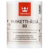 """""""TIKKURILA"""" Parketti-Assa 80 Lattialakka (Паркетти-Ясся Лак Паркетный Глянцевый, Тиккурила Финляндия) — водоразбавляемый полиуретаново-акрилатный покрывной лак для паркета, 10л"""