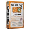 Беспылевая клеевая смесь LITOKOL LITOGRES K97 ECO FAST (ЛИТОКОЛ) для укладки керамогранита, плитки, камня 25кг