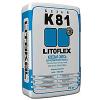 Клей для укладки плитки и керамического гранита LITOKOL LITOFLEX K81 (ЛИТОКОЛ К81), 25кг белый