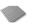 Тактильная тротуарная плитка с квадратными рифами * 500х500х50 (цвет серый).