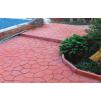 Тротуарная плитка ЧЕШУЯ * 245х190х60 (цвет серый).