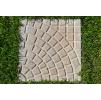 Тротуарная плитка Квадрат Солнышко 400х400х50 (цвет серый).