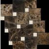 Premium Marble Zaijian мраморная мозаика BW03 CR.MARFIL (15) + EMPERADOR (48) polished Premium Marble (Китай)