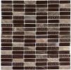 Мозаика стеклянная с камнем Bonaparte Super Line (brown)