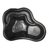 Декоративный пластиковый садовый пруд 150/2л. Цвет: Черный