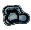 Декоративный пластиковый садовый пруд 135л. Цвет: Черный