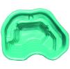 Декоративный цветной пластиковый садовый пруд 120л. Цвет: Зеленый