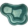 Декоративный цветной цветной пластиковый садовый пруд 150/2л. Цвет: Зеленый