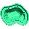 Декоративный цветной пластиковый садовый пруд 140л. Цвет: Зеленый