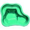 Декоративный цветной пластиковый садовый пруд 135л. Цвет: Зеленый