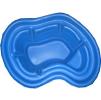 Декоративный цветной пластиковый садовый пруд 140л. Цвет: Синий