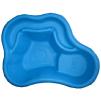 Декоративный цветной пластиковый садовый пруд 150/2л. Цвет: Синий