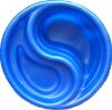 Декоративный цветной пластиковый садовый пруд 80л. Цвет: Синий.