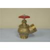 Клапан пожарный КПЛ 50-2, Д=51 мм, латунь (угловой, 125 гр.) цапка, цапка