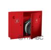 Шкаф для пожарного крана ШПК-315 навесной закрытый красный/белый (с местом для огнетушителя 6 кг) 840 х 650 х 230 мм