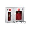 Шкаф для пожарного крана ШПК-315 навесной с окном красный/белый (с местом для огнетушителя 6 кг) 840 х 650 х 230 мм