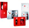 Шкаф для пожарного крана ШПК-310 встроенный, закрытый, красный/белый 540 х 650 х 230