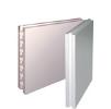 Пазогребневая плита Волма, влагостойкая (ПГПВ) 500 х 666 х 80 мм. Гипсовая. Пустотелая