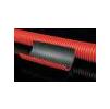 Труба для кабеля гофрированная ЖЁСТКАЯ d160 в отрезках c муфтой и зондом для протяжки кабеля
