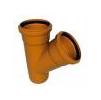 Тройник ПВХ 250х160-45гр. для наружной безнапорной канализации