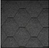 Черепица Икопал Natur угольно-серый (3 кв.м/уп) шестигранник без тени