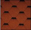 Черепица Икопал Tema клюквенно-красный (3 кв.м/уп) шестигранник с тенью