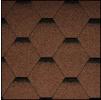 Черепица Икопал Tema коричневый (3 кв.м/уп) шестигранник с тенью
