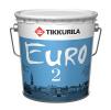 Краска Евро 2 водоэмульсионная для стен и потолков глубоко матовая белая, 9 л