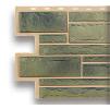 Цокольный сайдинг под камень малахит (зеленый)