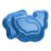 Декоративный цветной садовый пластиковый пруд 2700л. Цвет: Синий.