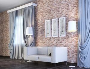 Панели пвх с 3d рисунком UNIQUE коллекция Этна розовый