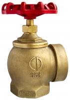 Клапан пожарного крана угловой латунный 90 гр. PN16 Ду 50 мм