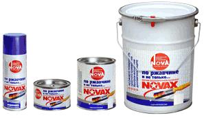 Краска по по металлу Новакс (цвет -серебро, текстура - молотковая)0,8 л.