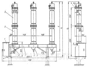 Масляный выключатель ВМТ-220Б-25/1250 УХЛ1