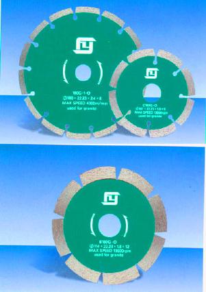 Алмазные отрезные круги с воздушным охлаждением по граниту