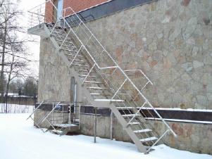 Лестница наружная эвакуационная, противо пожпрная