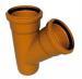 Тройник ПВХ 400х160-45гр. для наружной безнапорной канализации