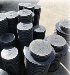 Дренажный колодец пластиковый d 340/300 мм, глубина - 1 м