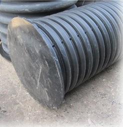 Дренажный колодец пластиковый d 695/600 мм, H=3,5 м