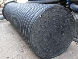 Дренажный колодец пластиковый d 340/300 мм, H=6 м