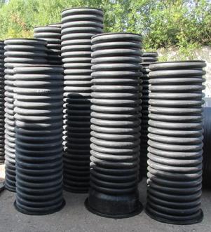 Дренажный колодец пластиковый d 340/300 мм, H=5,5 м