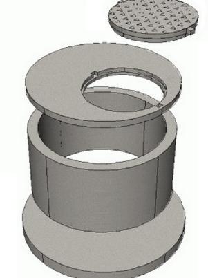 Кольцо колодезное ЖБИ железобетонное с дном (различного диаметра,толщины и высоты),крышка,люк