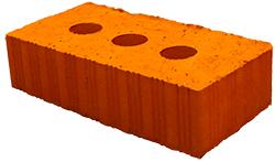 Кирпич строительный М-150 Ломинцево 3 тех. отверстия, 250х120х65 (7200шт/18 подд./машина)